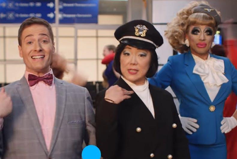 Randy Rainbow stars in new Orbitz ad with Margaret Cho & Bianca Del Rio
