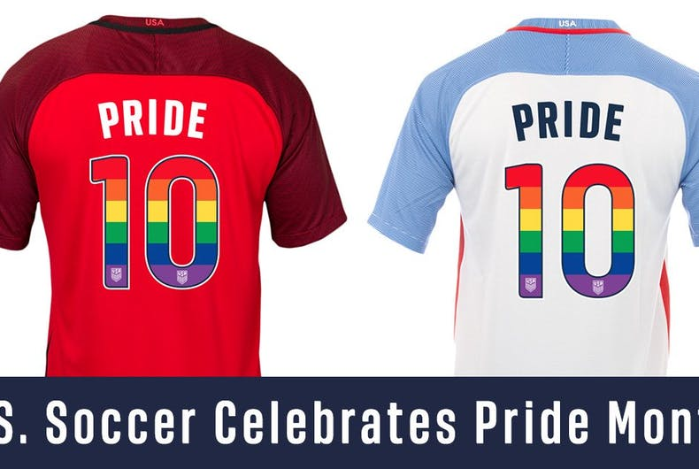 U.S. Soccer players will wear rainbow uniforms for Pride Month