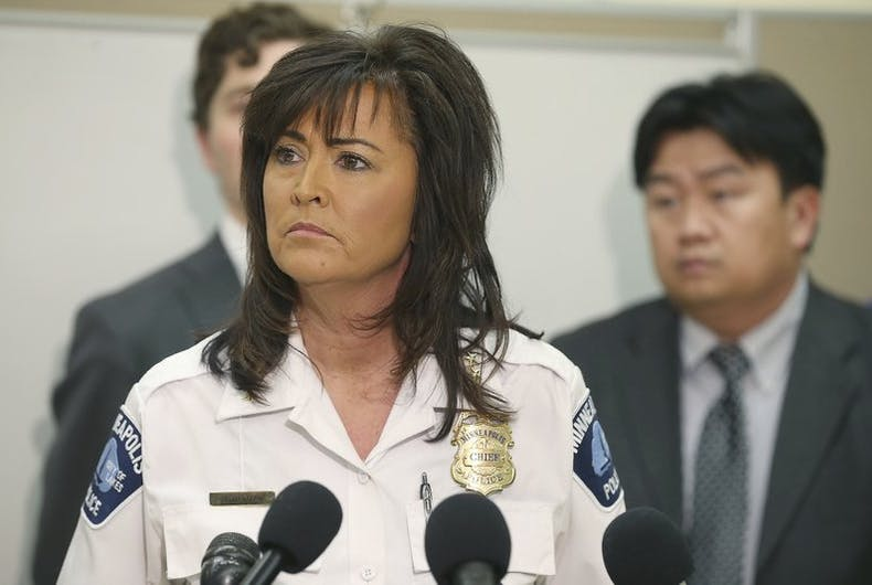 Minneapolis' lesbian police chief is mad cops won't have big role in pride parade