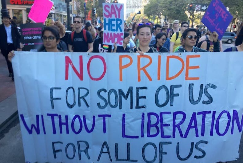 Protests from within the LGBTQ community block Pride events across the country