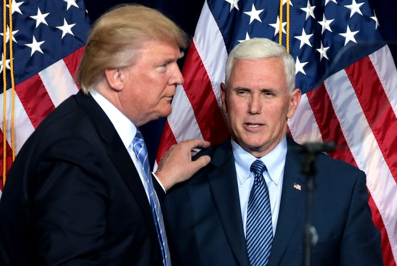 Mike Pence & a hate group leader are behind Trump's new trans military ban