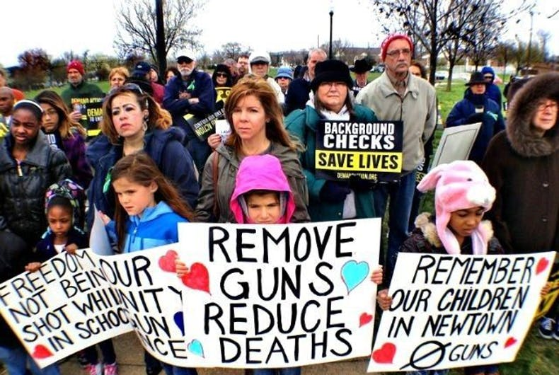 Newtown shooting gun control protest
