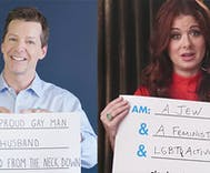 Sean Hayes & Debra Messing want you to march this Sunday