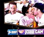 This video of gay couples smooching for the Dodgers' Kiss Cam is everything