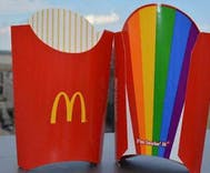 McDonald's debuts rainbow fry boxes for DC pride & that Starbucks guy is pissed
