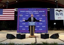 Perpetually campaigning Trump goes back to Iowa to face unhappy independents
