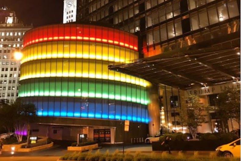 Trump International Hotel Chicago rainbow