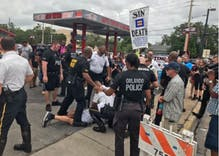 Revolting preacher arrested protesting gays at Pulse memorial ceremony