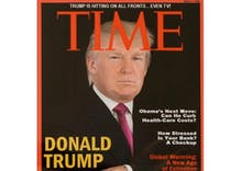 Trump had a fake Time cover of himself in his golf clubs & Twitter is rolling