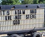 Methodist church removes anti-LGBTQ message: 'It's Adam and Eve not Steve'