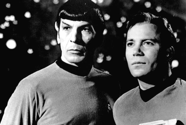 Man-on-man butt-slapping in the original 'Star Trek' series