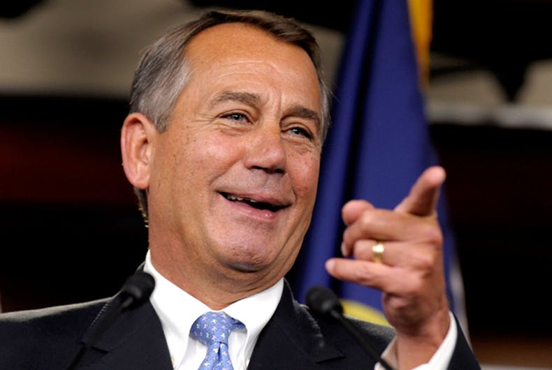 Take a deep breath. John Boehner has a new gig selling weed & it may be good for LGBT people.
