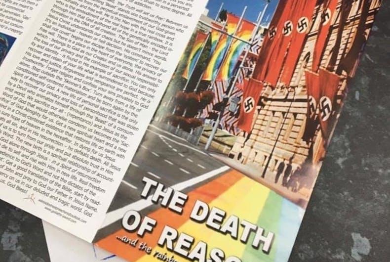 This newspaper accidentally distributed homophobic propaganda