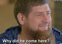 Chechen dictator laughs when asked about anti-gay violence