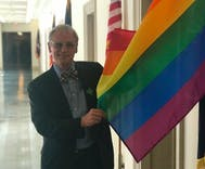 Man sues Congress members over pride flags, claiming being gay is a religion