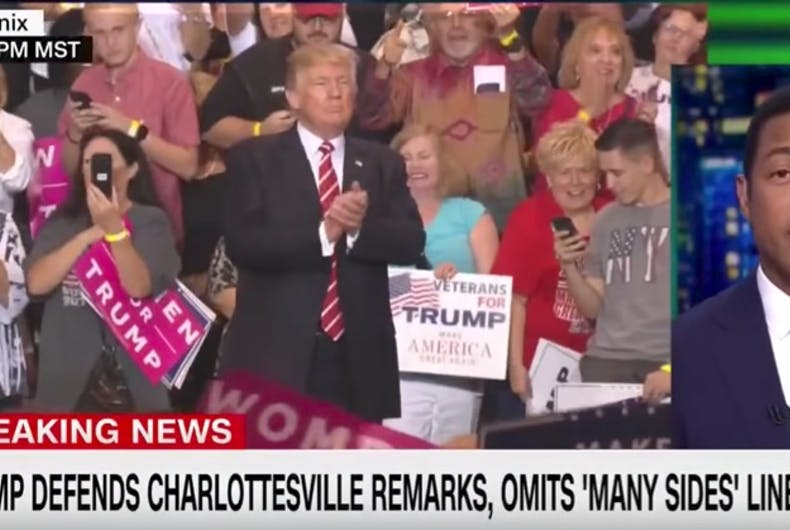 Don Lemon shreds Trump for doubling down on racism during latest unhinged rally speech