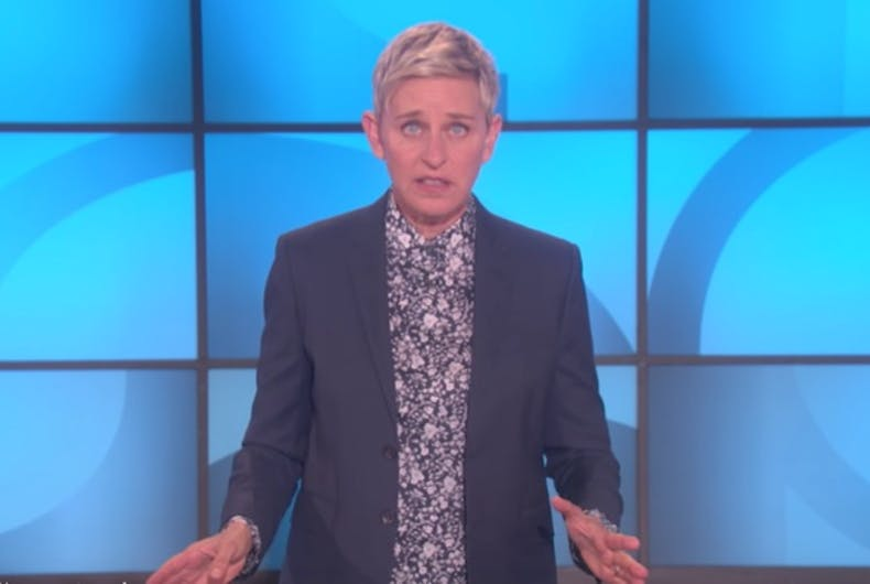 Ellen DeGeneres has discovered 'butt glitter' & she is not impressed