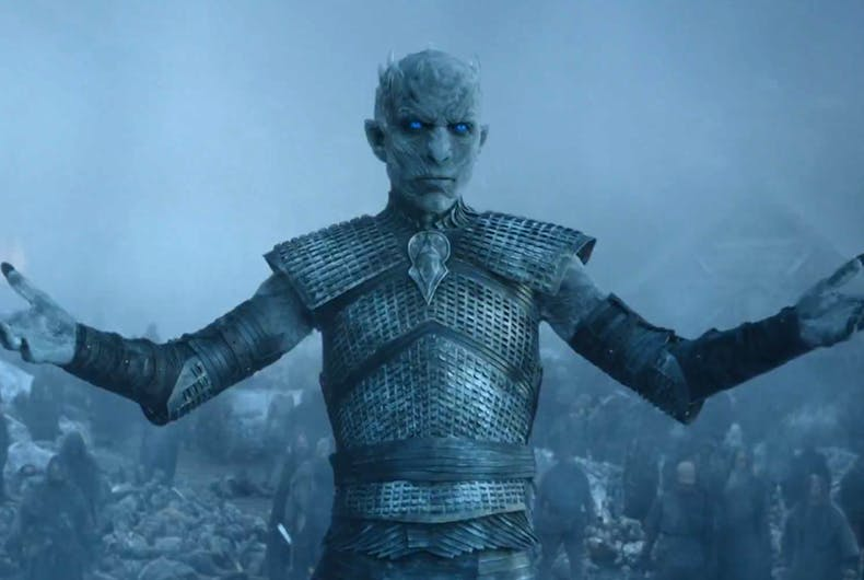 Watch Game of Thrones' Night King lip synching for his life