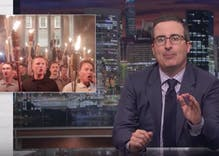 Must see: John Oliver shreds Trump's non-response to Charlottesville Nazis