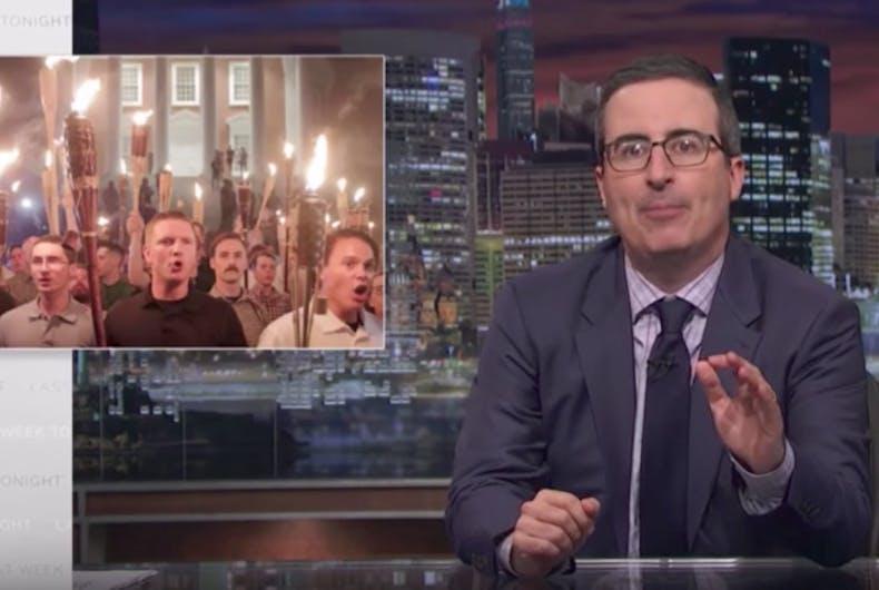Must see: John Oliver shreds Trump's non-response to Charlottesville Nazis
