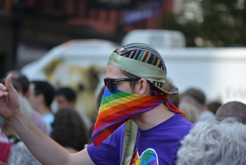 rainbow-mask-protestor