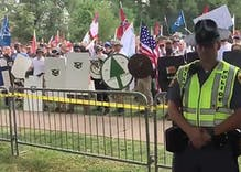 White supremacists chant 'F*** you, f****ts' at rally in Virginia