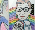 ACLU celebrates #NationalColoringBookDay with Super Queer Ruth Bader Ginsburg