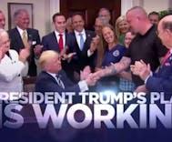 Trump releases campaign ad against his 'enemies' as Nazis riot & people die
