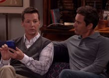 New 'Will & Grace' promo shows Jack's reaction to Grindr