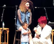 Toddler crashes drag show with adorable results