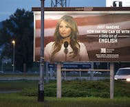 Melania Trump threatens lawsuit over billboards offering English lessons
