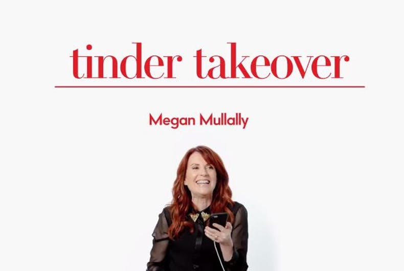 tinder takeover megan mullally