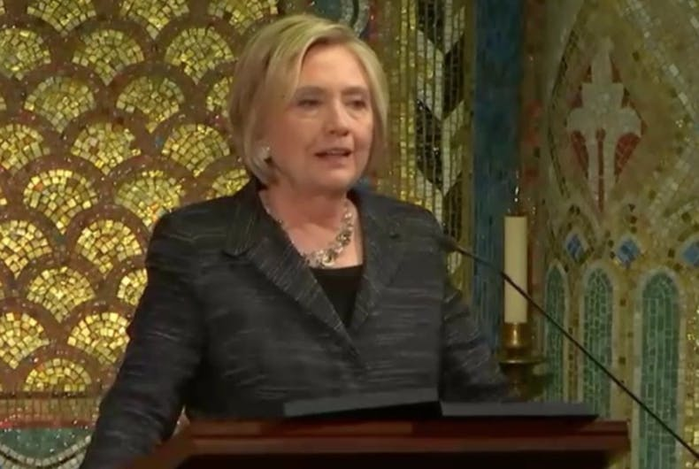 Hillary Clinton delivers a touching eulogy for Edie Windsor