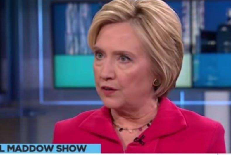 Hillary Clinton thrashes Donald Trump in Rachel Maddow interview