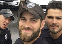 Not so hot now: One of the viral cops from Florida is a disgusting anti-Semite