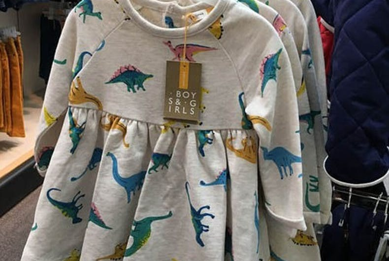 This department store is getting rid of separate boys' and girls' clothes