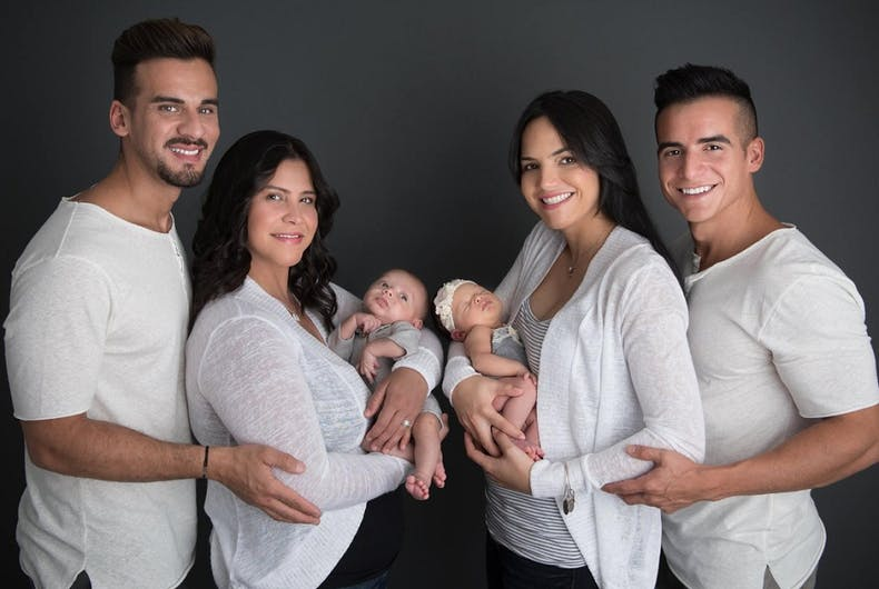 A lesbian couple just had babies & the fathers are married (to each other)