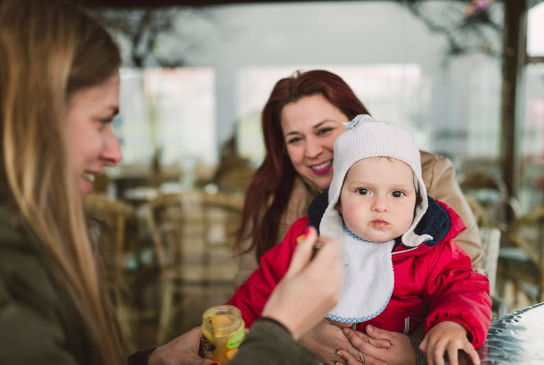 Lesbian couples can now have children who are a part of each of them