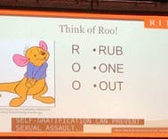 College uses Winnie the Pooh to tell potential rapists to masturbate instead