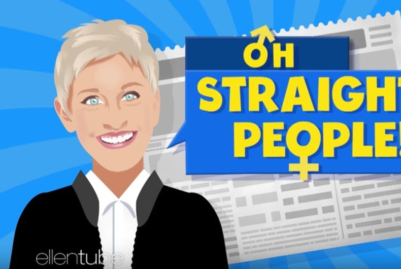 Ellen mocks straight people in new show segment