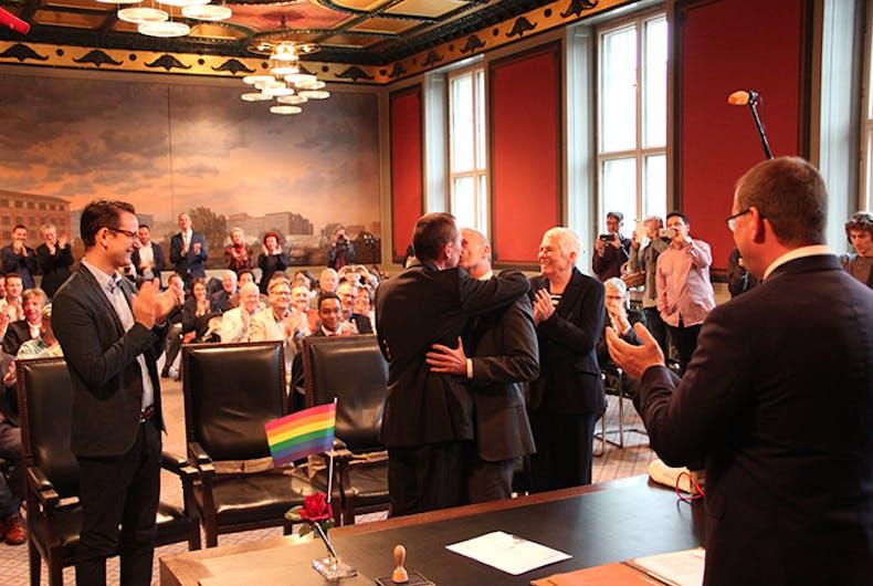first gay wedding germany