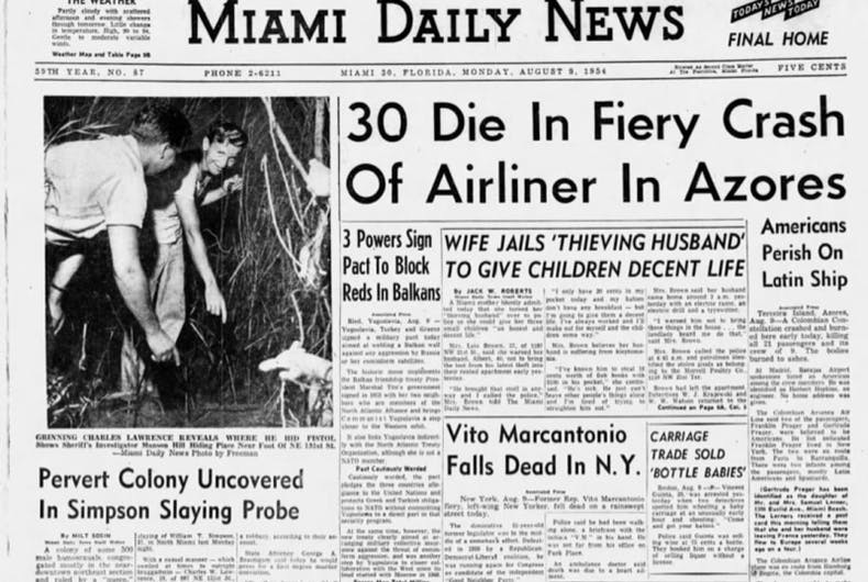 How the murder of a flight attendant in Miami led to a 'homosexual panic' in 1954