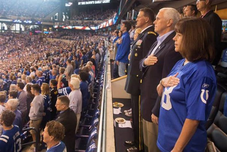 mike pence national anthem