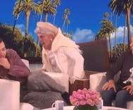 Ellen gave Sam Smith the scare of his life as he talked about living in a haunted house