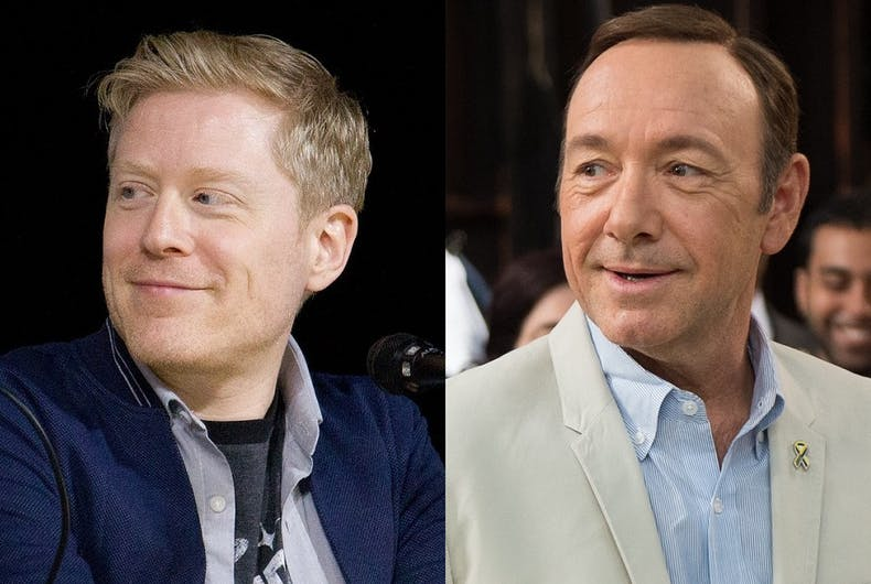 Anthony Rapp (L) and Kevin Spacey