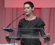Rose McGowan gives her first speech since accusing Harvey Weinstein of rape