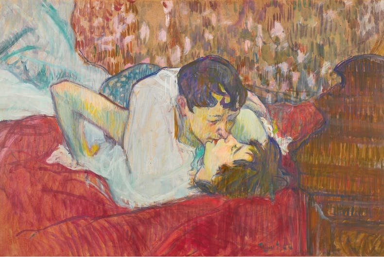 In the late 1800's, this famous artist produced several lesbian paintings