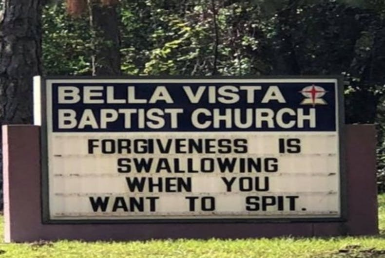 This church sign went viral & now the minister is apologizing