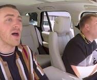 Sam Smith gets the shock of his life doing Carpool Karaoke with James Corden