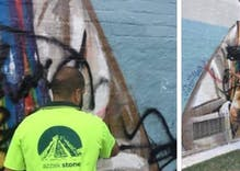 'Christian Lives Matter' group is urging people to vandalize gay murals & some idiot did it